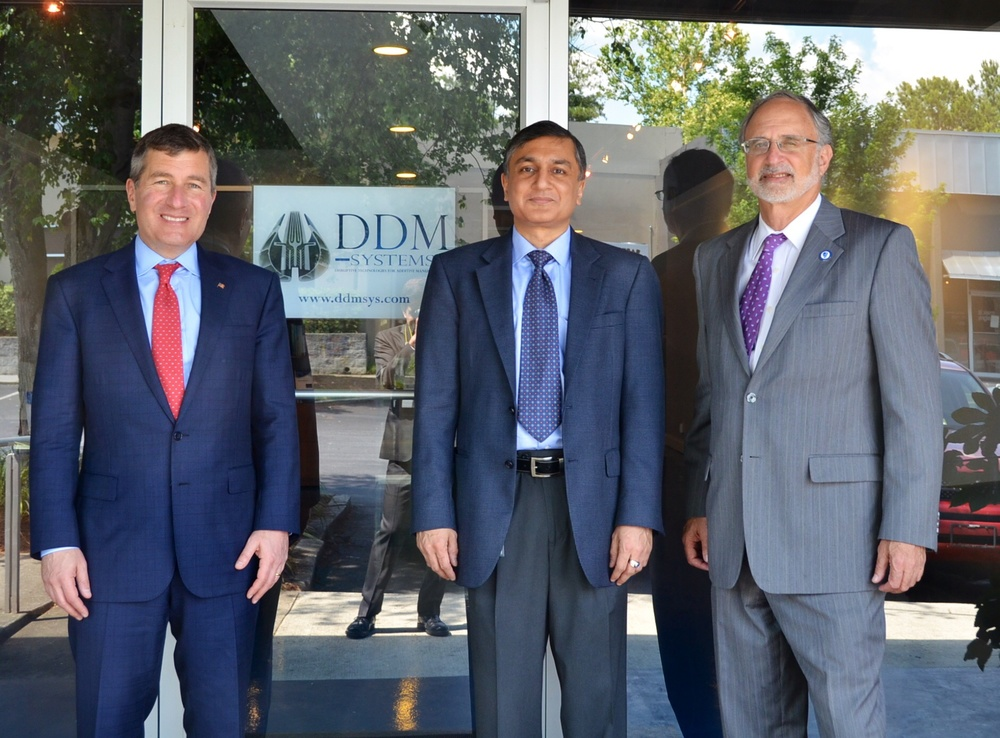 From left to right: Ambassador Charles Rivkin, Dr. Suman Das, and Ambassador Charles Shapiro