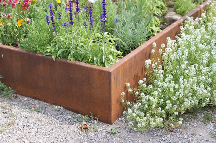 corten planters punchclock metalworks. Black Bedroom Furniture Sets. Home Design Ideas