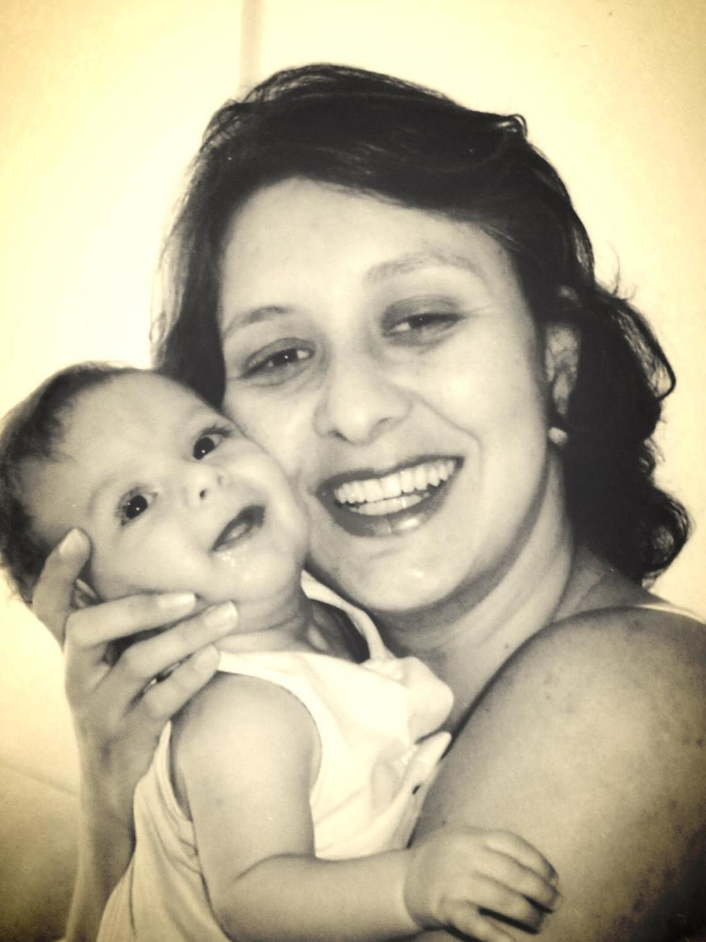 Fabiana e o seu bebê