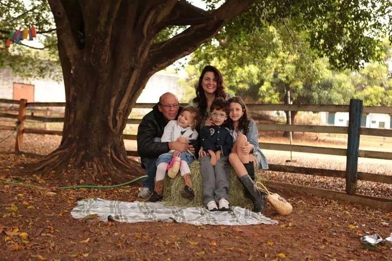 Pedro e a família reunida (Foto: arquivo pessoal)