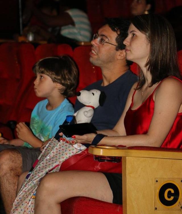 """Espectadores da sessão de cinema. (Arquivo """"Sessão Azul"""")"""