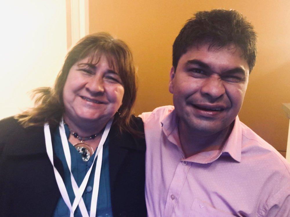 Jeison e a mãe Maria Emília (Foto: Fabiana Santos)