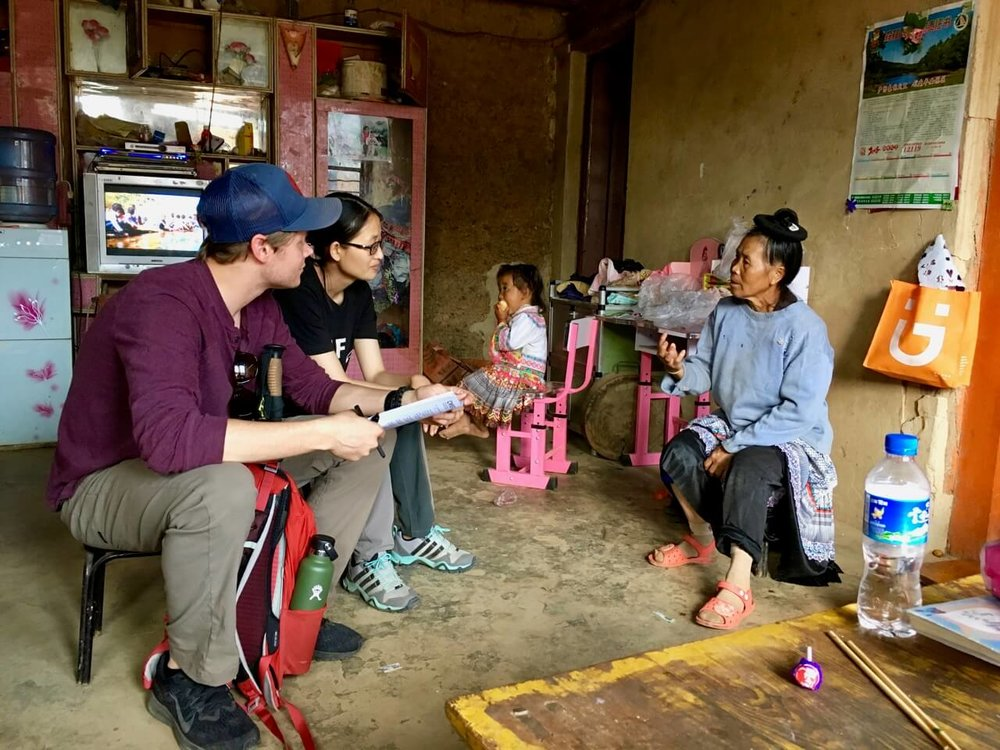 Jenny of CWEF and service team member Chris visiting homes