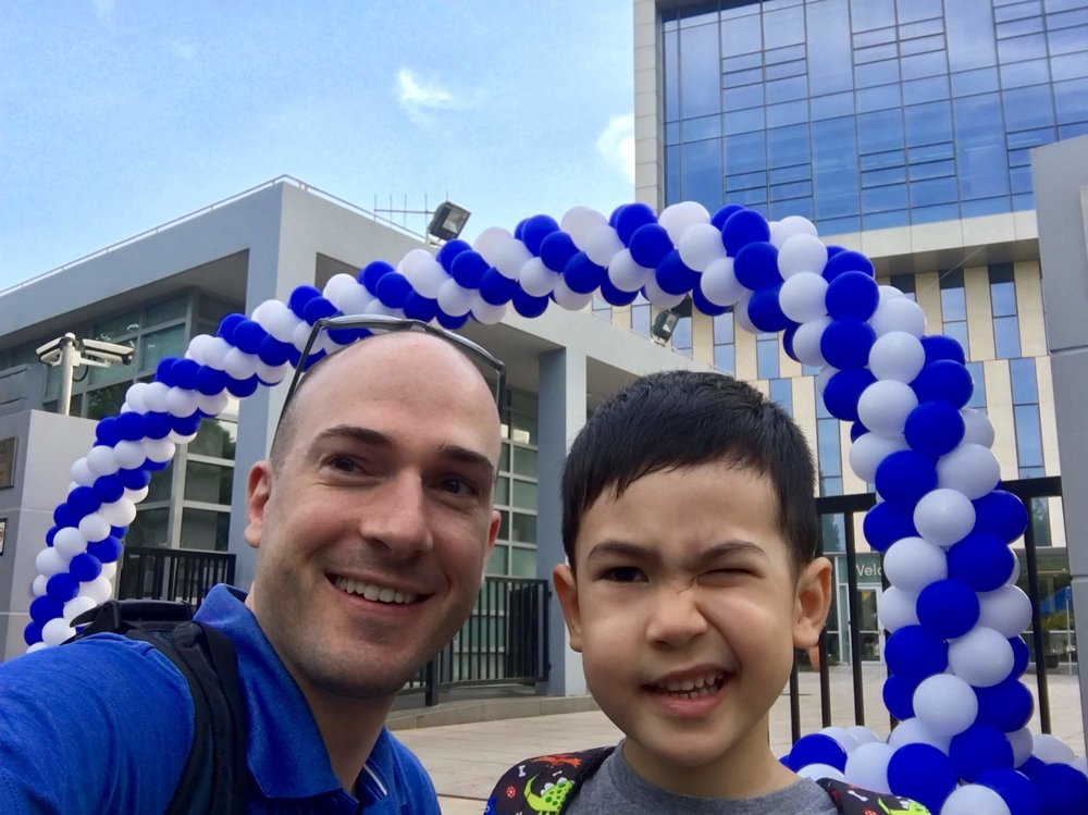 John's first day of school at Concordia Shanghai