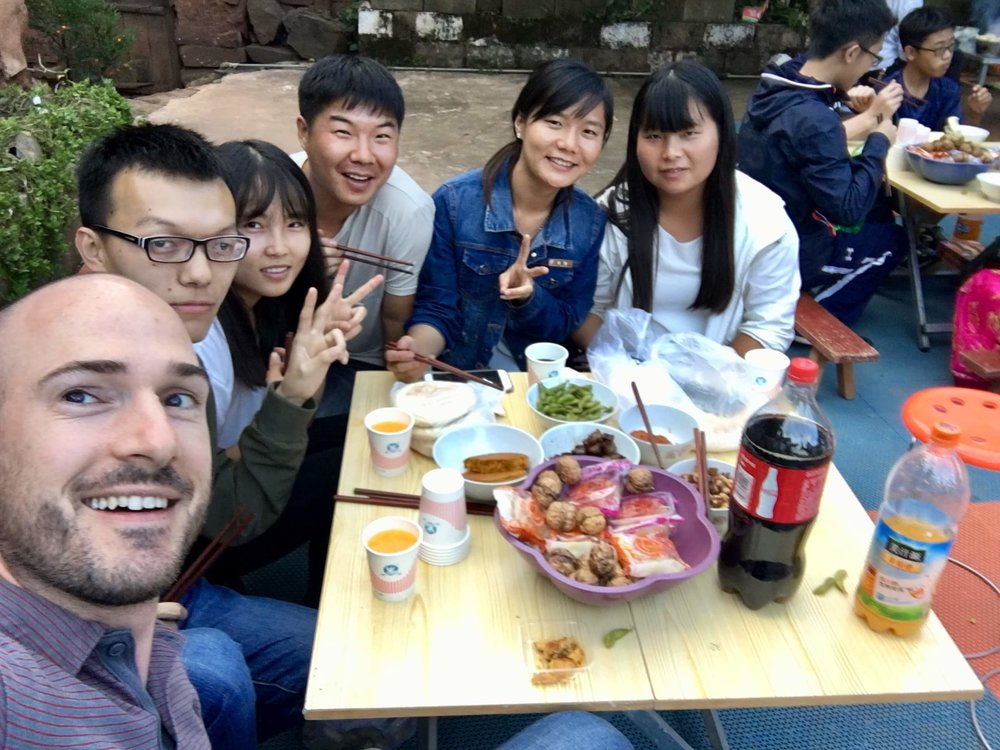 Meeting new friends – interns with Zhengxin, a local nonprofit partner