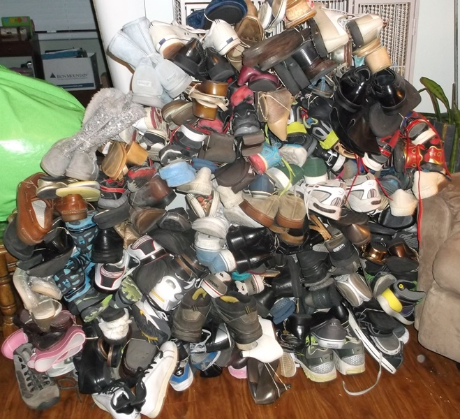 new & used shoes for donation