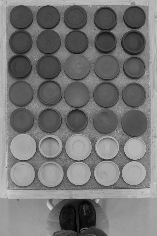 Making test plates for 100 plates.   Guldagergaard, Denmark, 2013