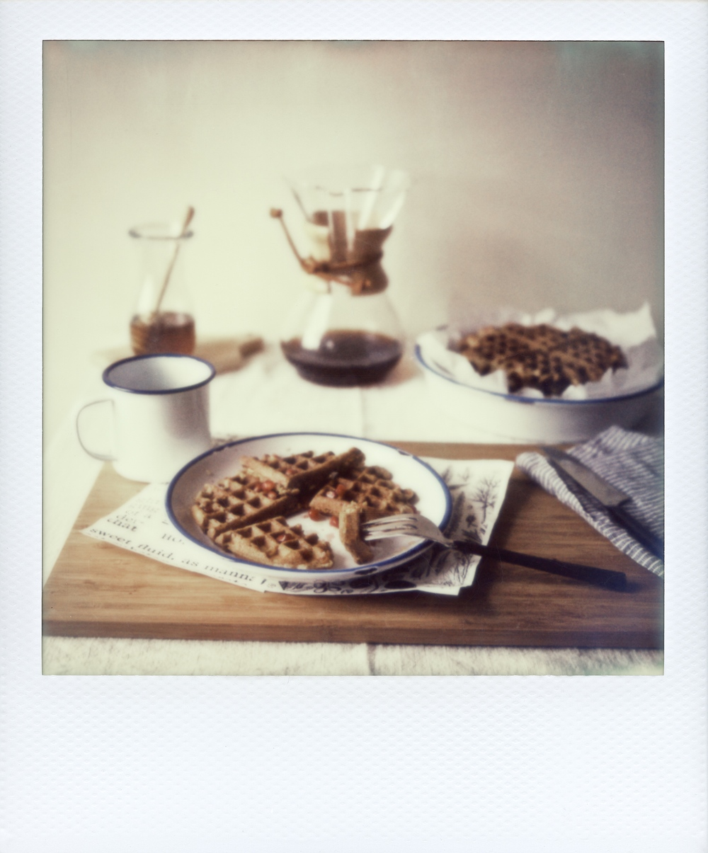 overnight oat waffles