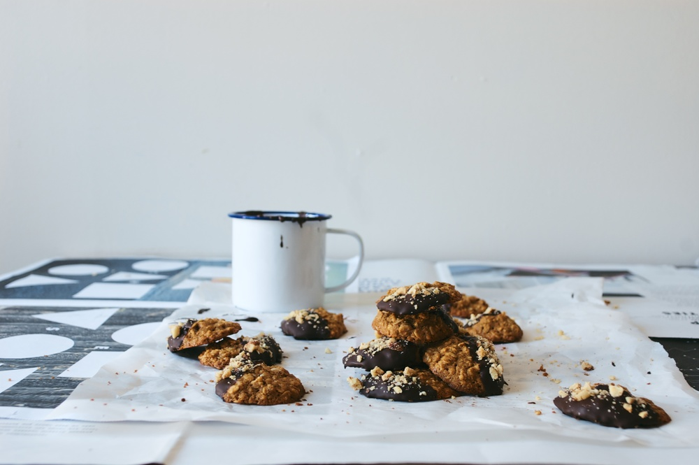 hazelnut-oatmeal cookies