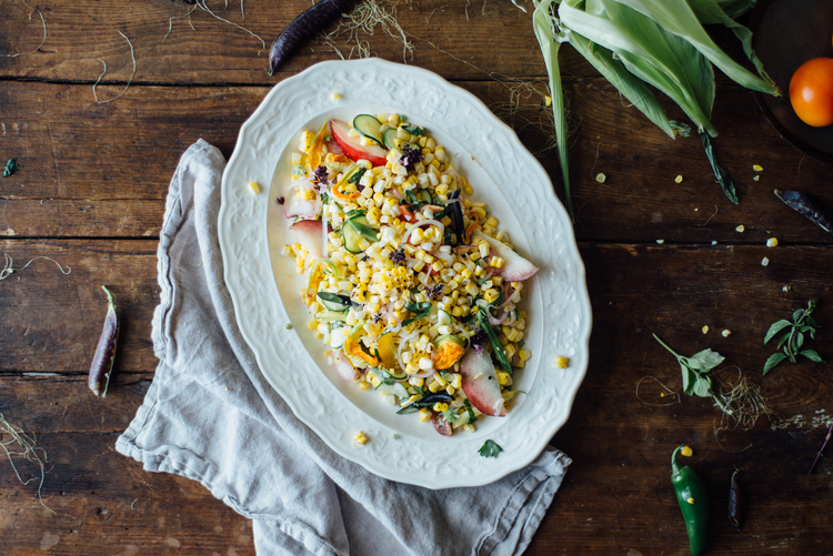 Pickled Corn Succotash Salad