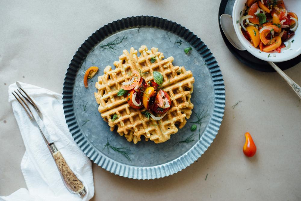 zucchini chickpea waffles