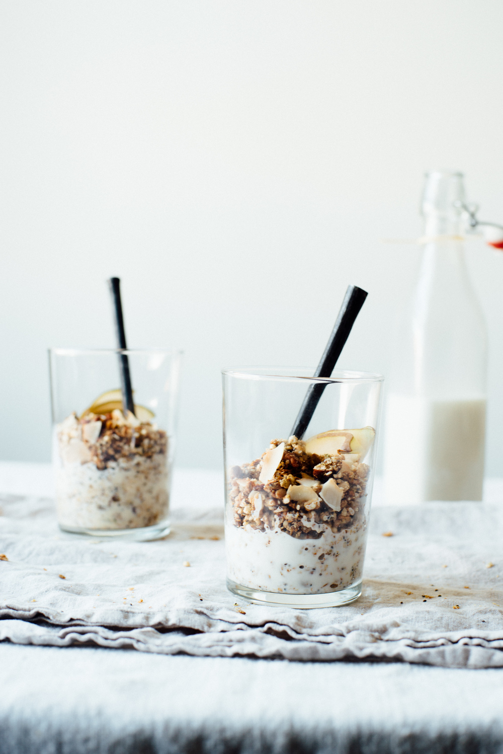 superfood granola + almond-macadamia milk