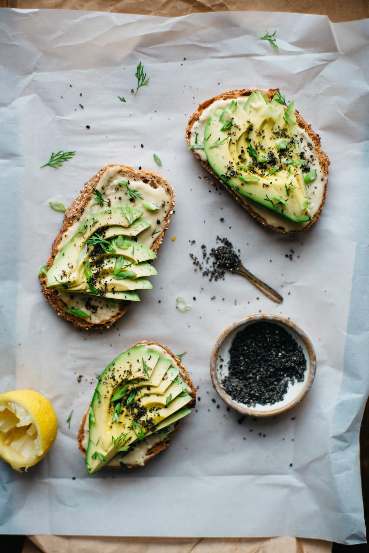 miso tahini avocado toast w/ black sesame gomasio | dolly and oatmeal