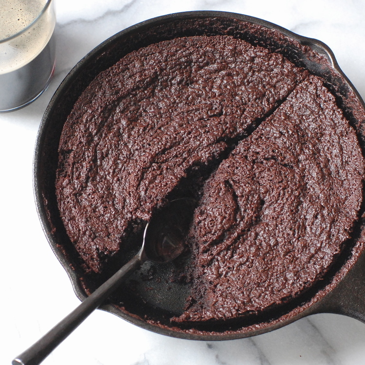 chocolate skillet brownies