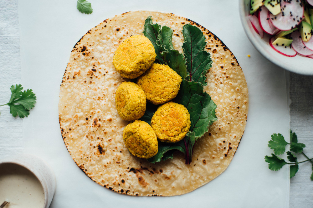 mung bean falafel tacos | dolly and oatmeal