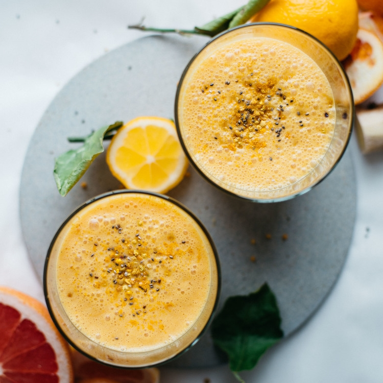 coconut citrus sunshine smoothie