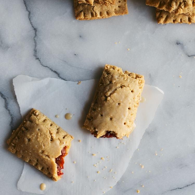 cranberry + orange zest pop tarts