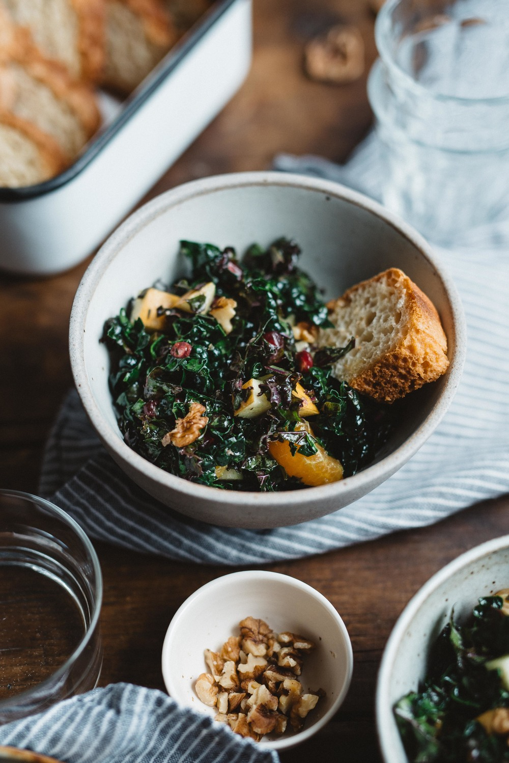 fruity shredded kale salad, for a crowd | dolly and oatmeal