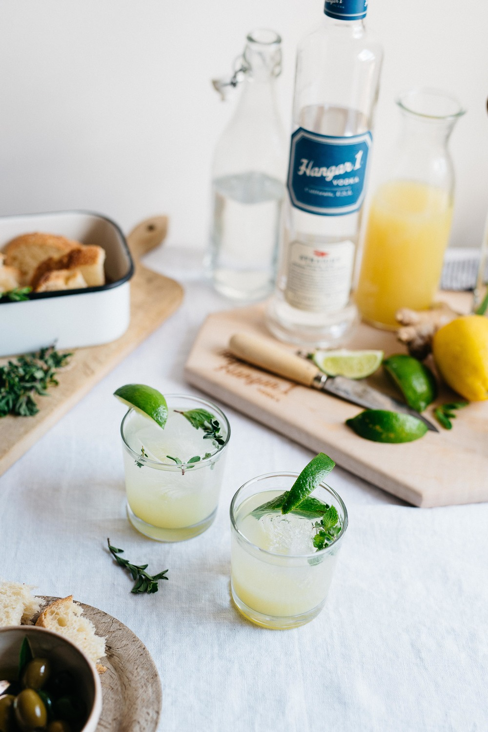 @Hangar1Vodka gingerade w/ spring herbs | dolly and oatmeal #FreshPickedVodka