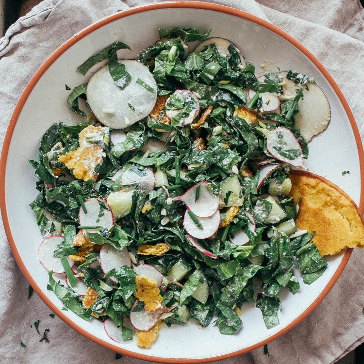 spring fattoush salad