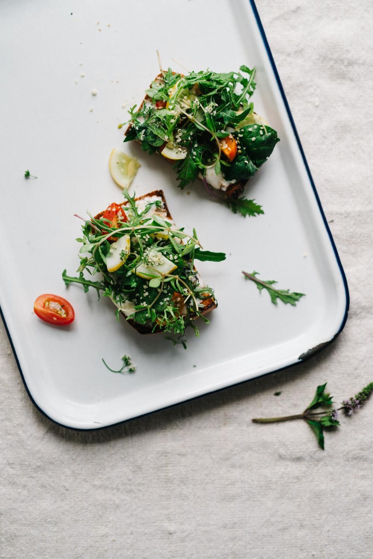 Summer Fridays! Cilantro & Hemp Salad On Tahini-Yogurt Toast