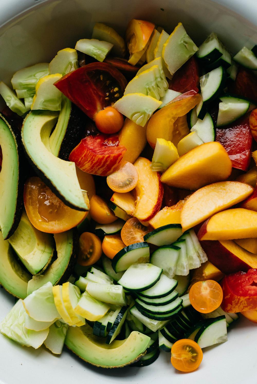 Cooling Summer Salad w/ Za'atar Pesto w/ Za'atar Pesto | dolly and oatmeal #vegan