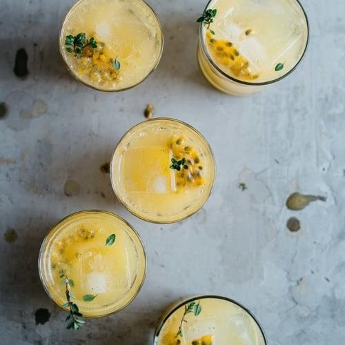 passion fruit & lemon-ginger fresca
