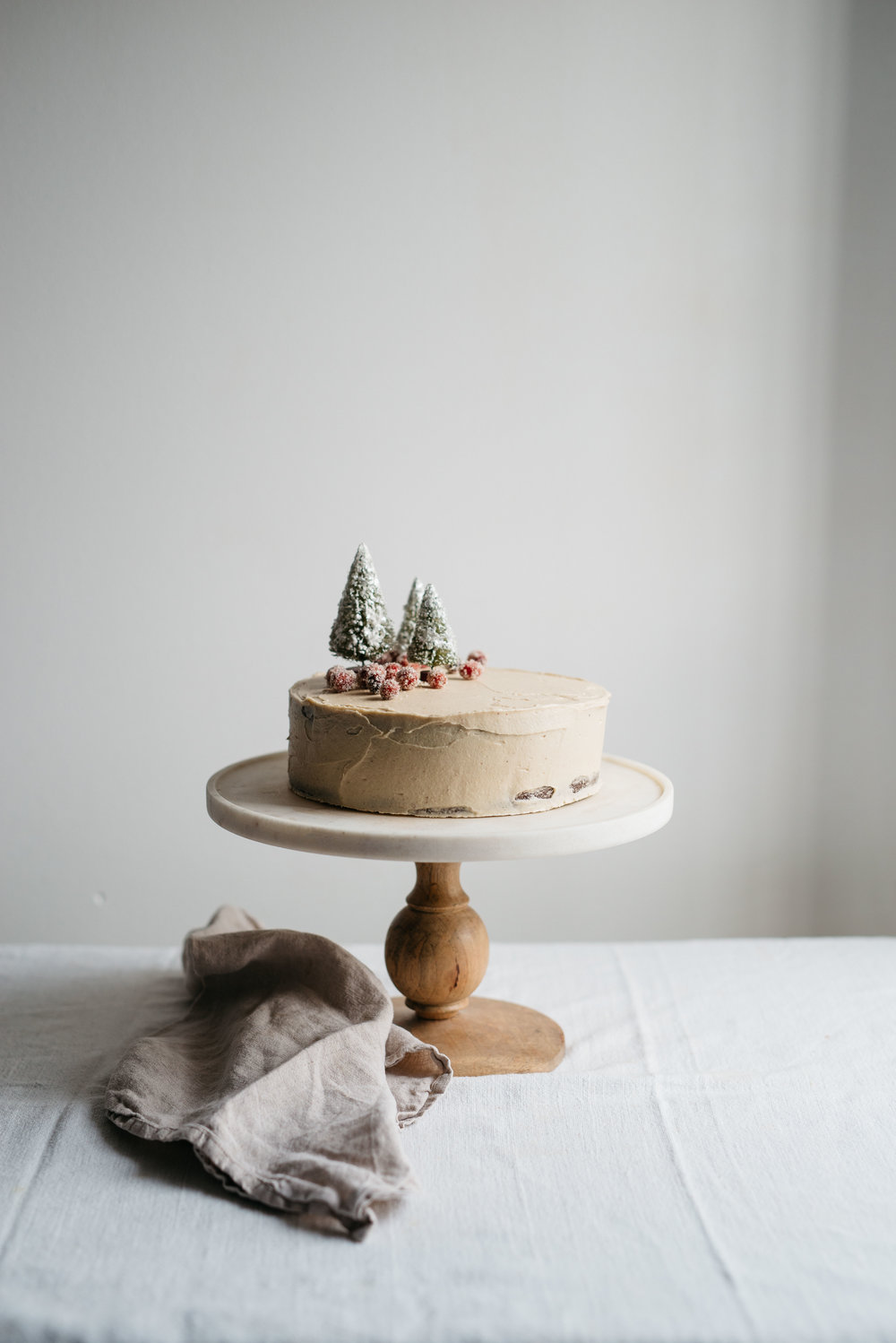 Molly's Chocolate Tahini Cake w/ Tahini Frosting | dolly and oatmeal