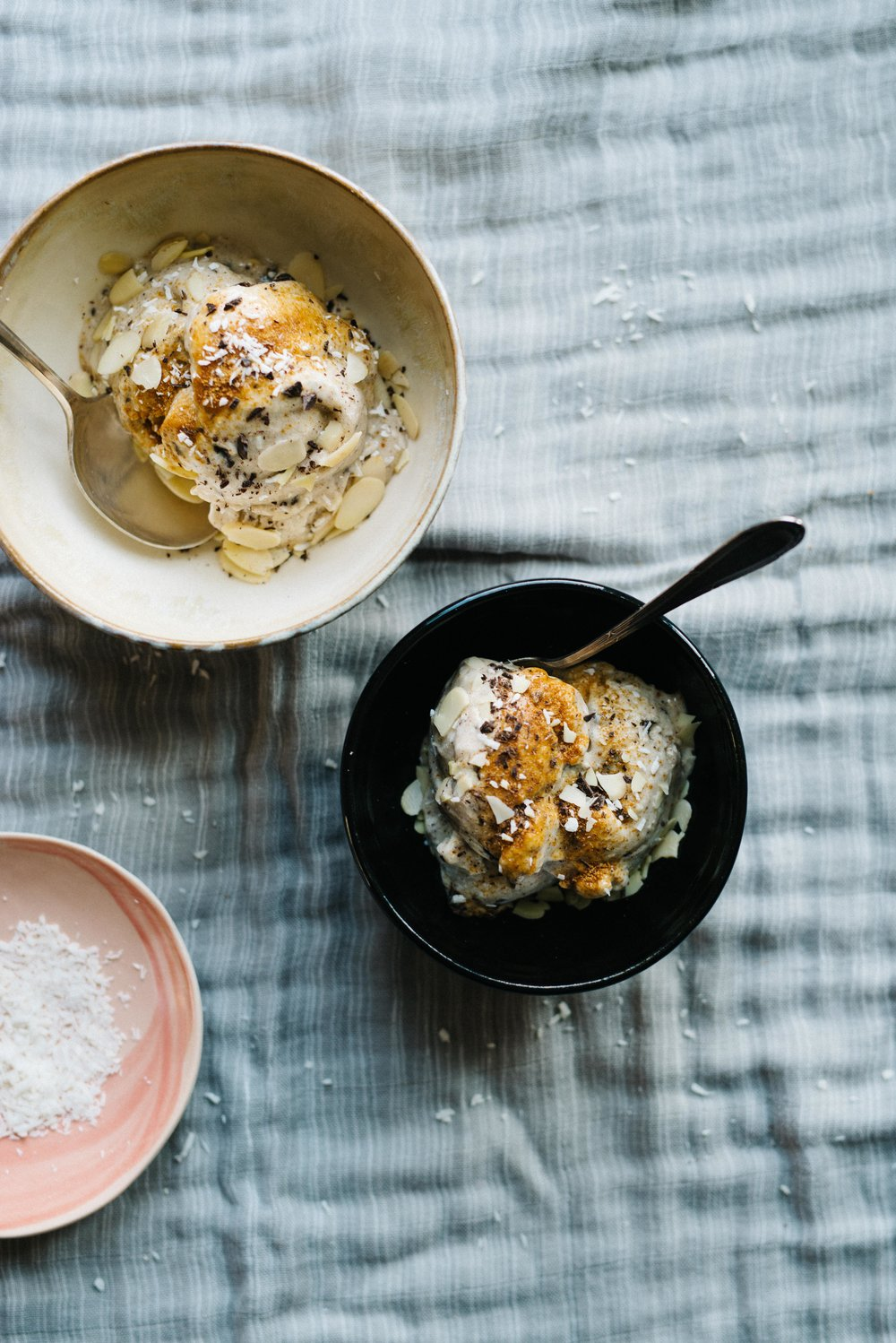 Banana, Coconut & Cardamom Ice Cream | dolly and oatmeal