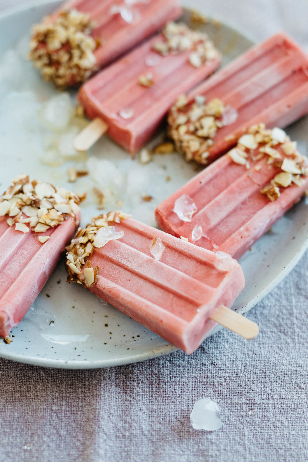 Raspberry-Tomato Yogurt Pops | dolly and oatmeal