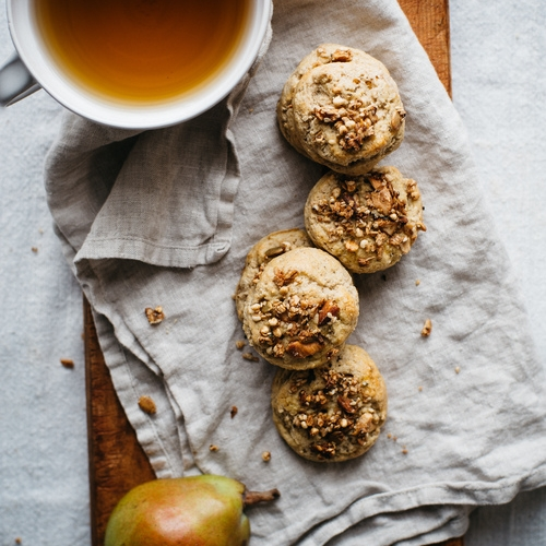 mini granola & pear scones