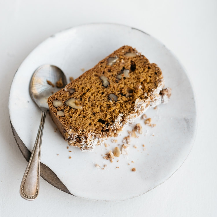 douple coffee pumpkin cake