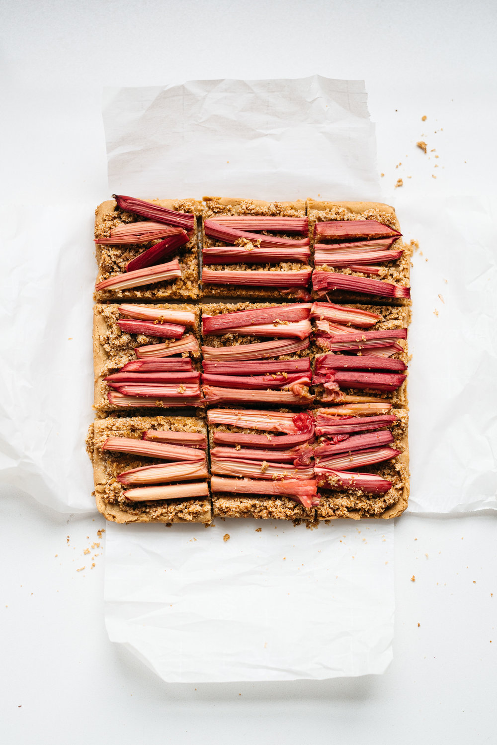 "Rhubarb Bars from ""More With Less"" 