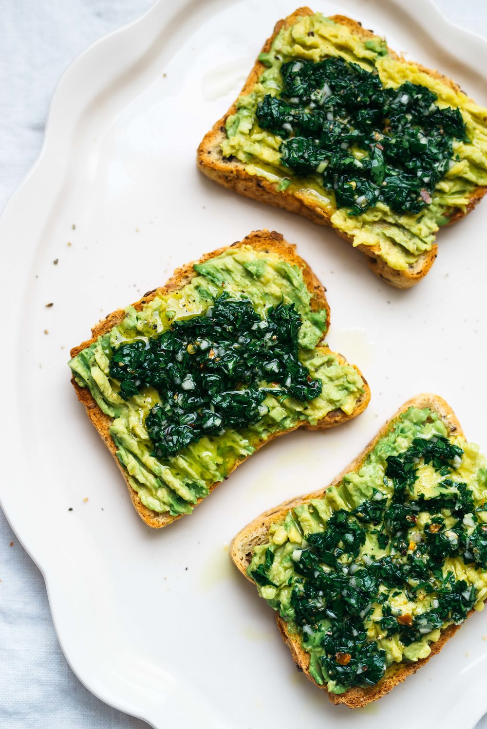 Chimichurri Avocado Toast | Dolly and Oatmeal