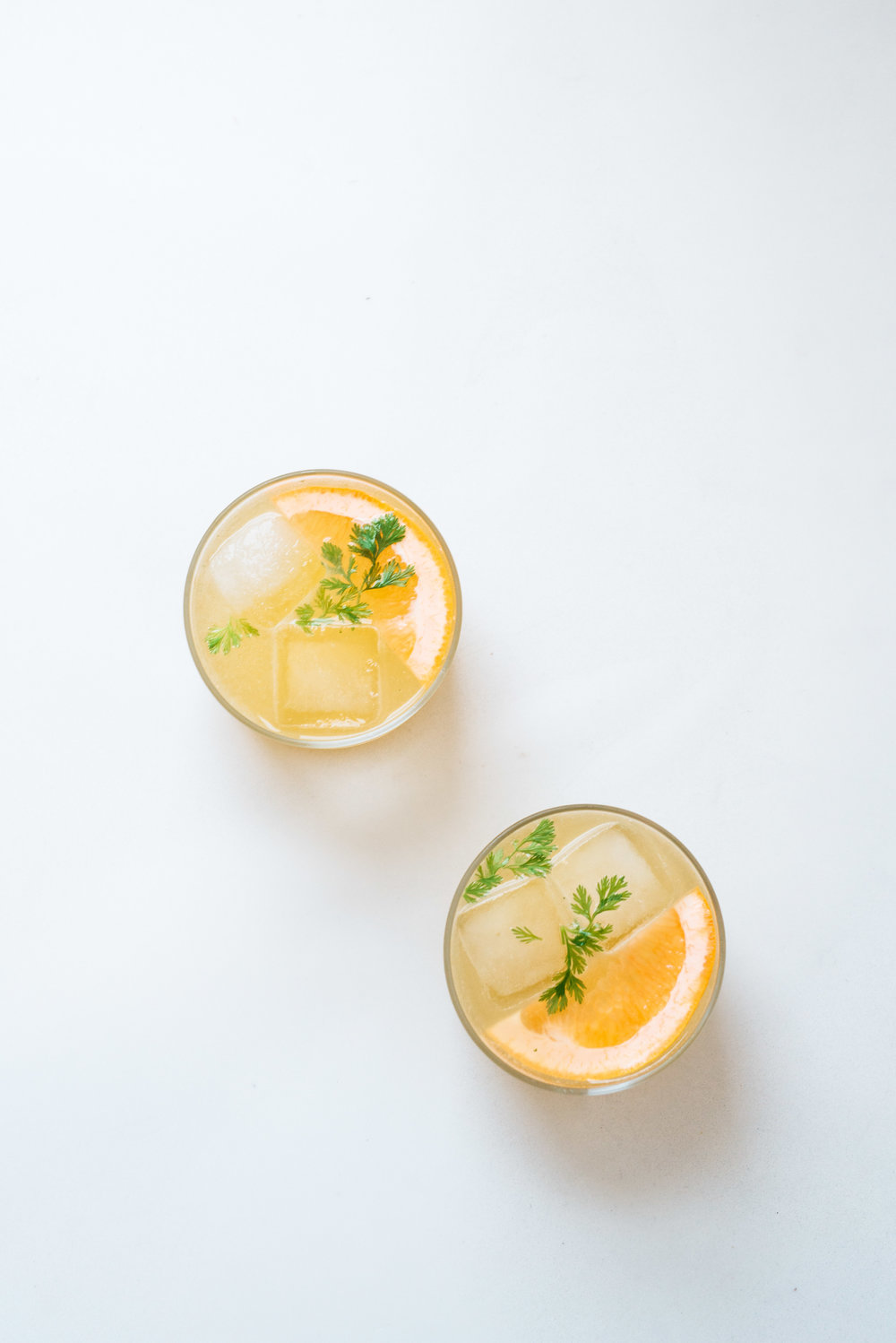 Cilantro-Grapefruit Mezcal Spritz | Dolly and Oatmeal