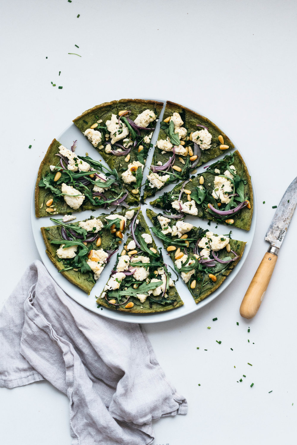 GREEN & WHITE SOCCA PIZZA | dolly and oatmeal