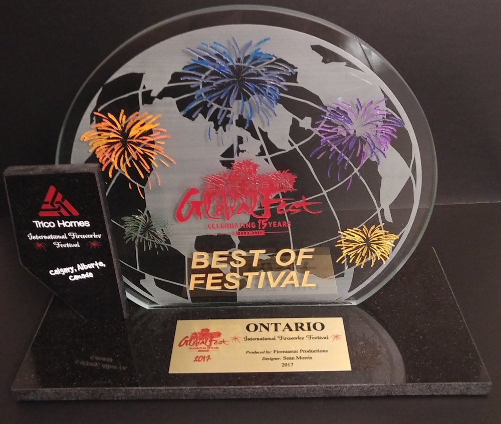 2017 Globalfest International Fireworks Competition - We were back on the 1st place podium in 2017 at Globalfest in Calgary with our display titled