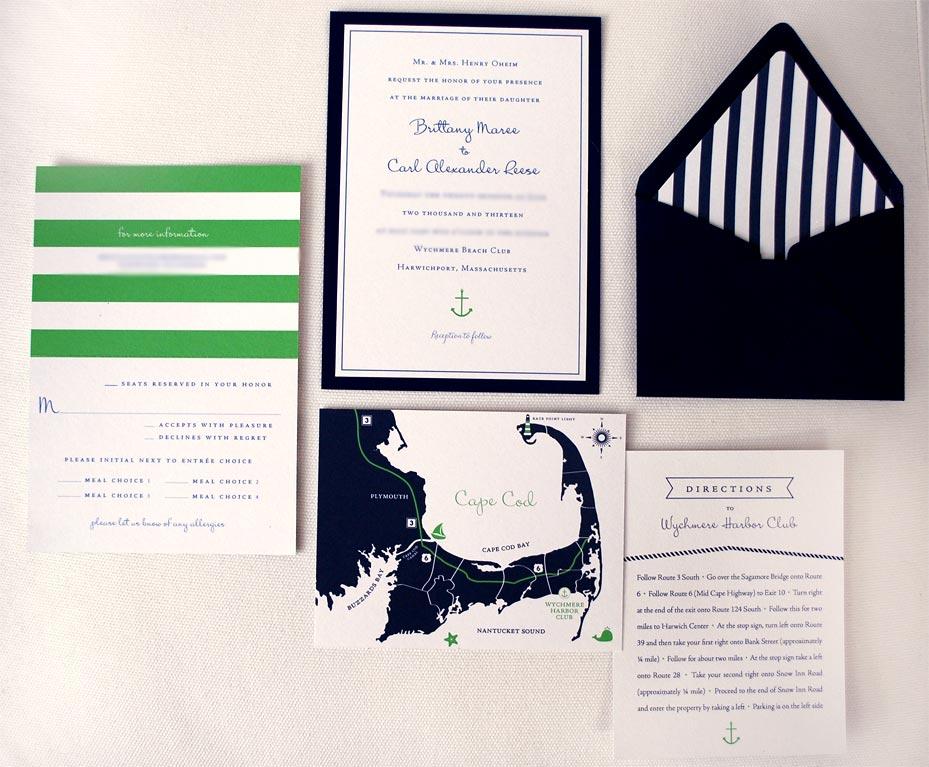 Modern Nautical Invitation Suite