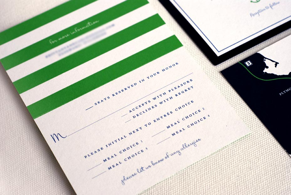 Perforated RSVP Card