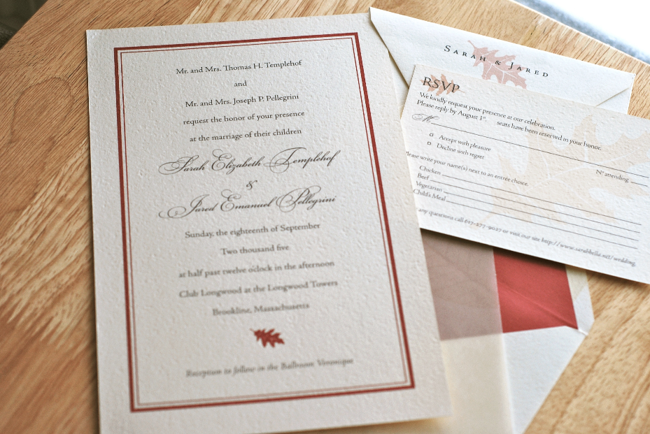 Traditional Autumn Invitation Suite