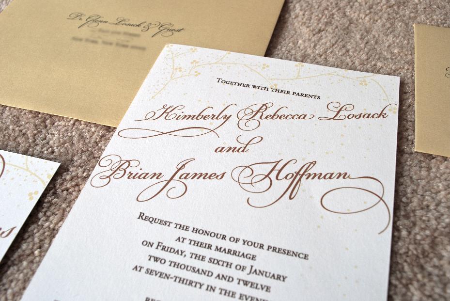 Golden Winter Wedding