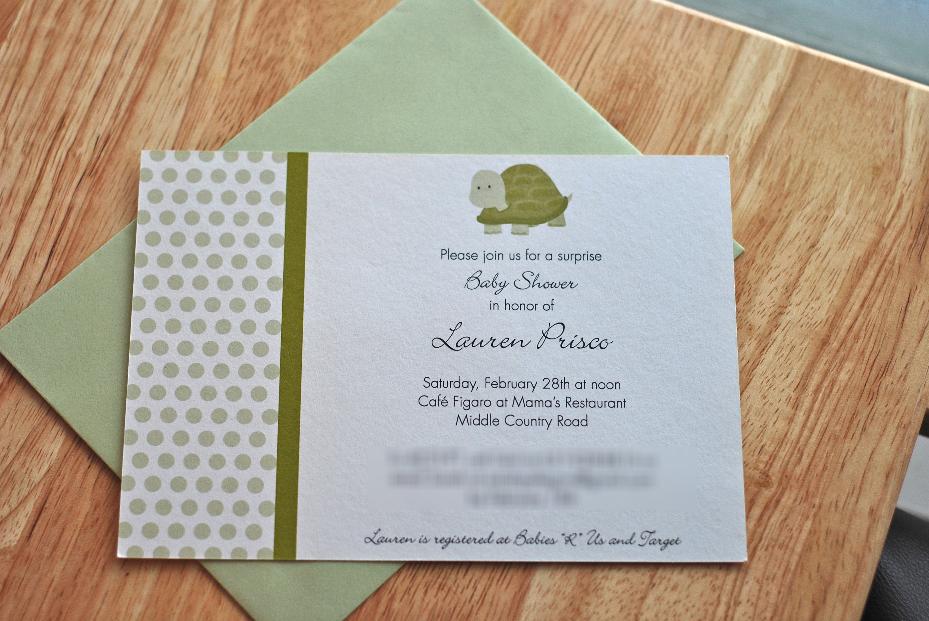 Lauren's Turtle Shower Invitations