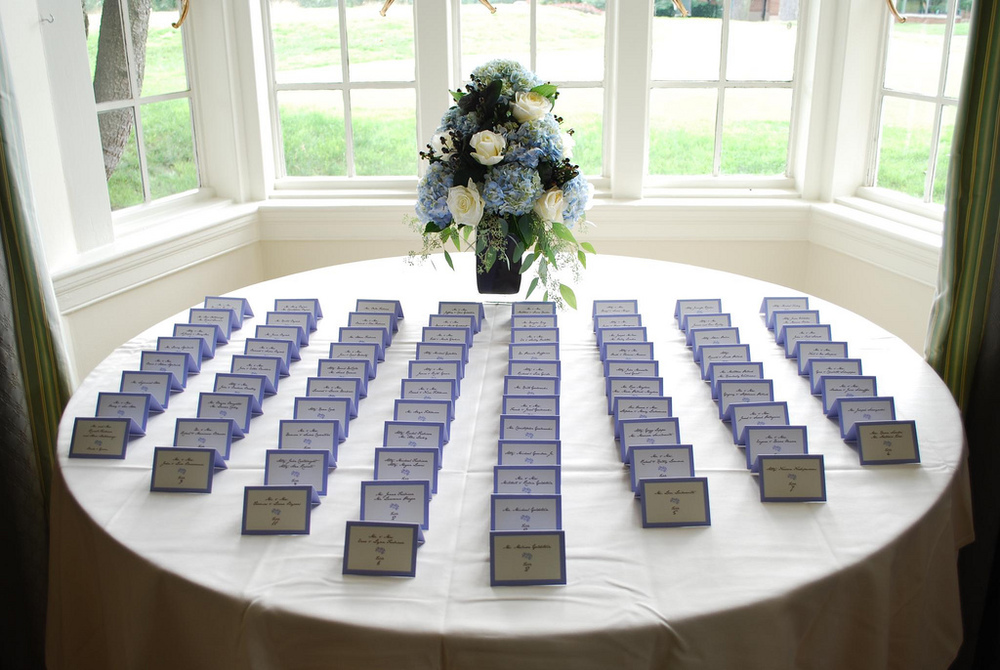 Deconstructed Hydrangea Place Cards
