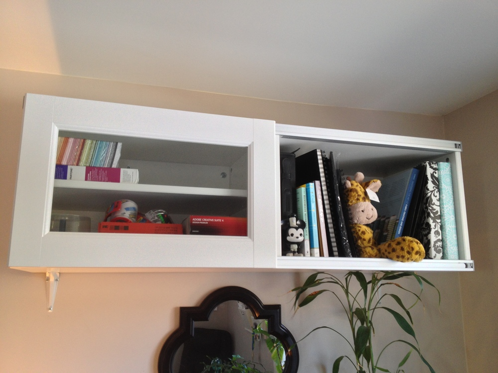 TV stand turned wall cabinet