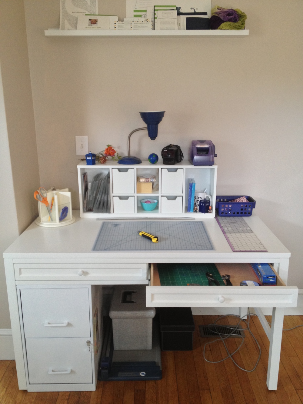 The desk I chose keeps with the look and feel of my office, but also fits properly and functions well