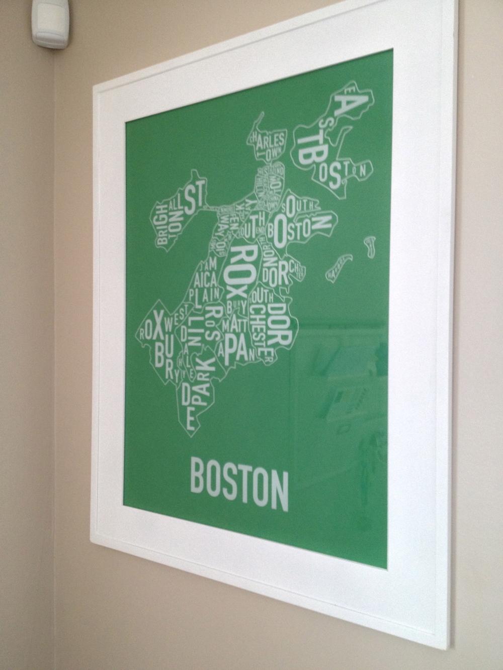 Boston Neighborhoods from  Ork Posters