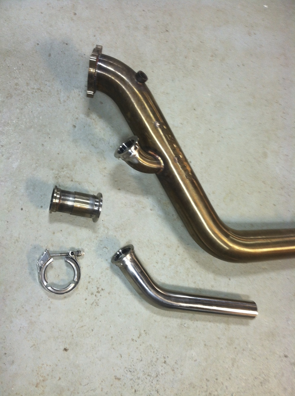 Custom Wastegate Tubing and Modified Downpipe
