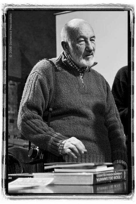 Gianni Berengo Gardin a Villata (VC) in occasione di una sua retrospettiva