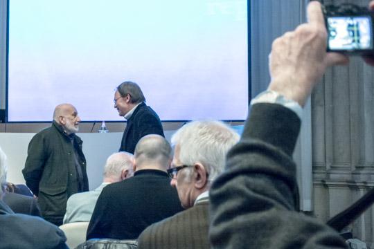 Francesco Zizola incontra Gianni Berengo Gardin prima della conference