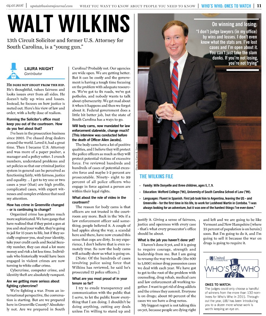 One to Watch: Walt Wilkins